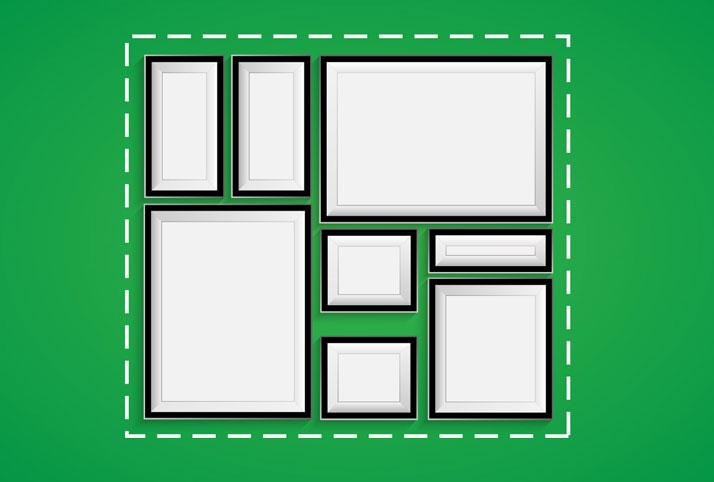 allineare i quadri in base a una forma geometrica