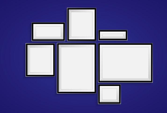 allineare i quadri in base a una forma libera