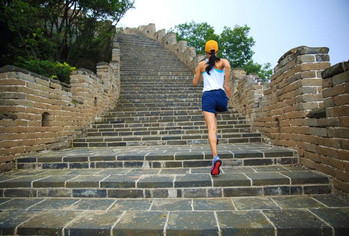 correre sulla muraglia cinese